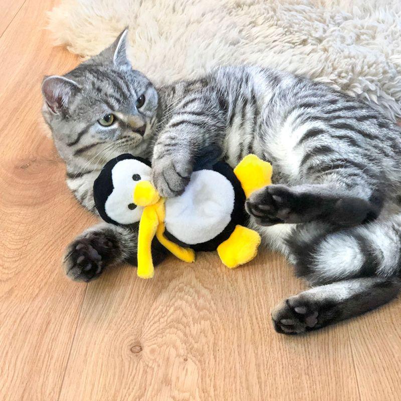 aumueller pingvin baldrian kattelegetøj